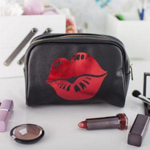 Metallic Kiss Makeup Bag