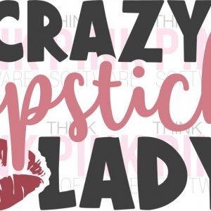 Crazy Lipstick Lady Car Decal