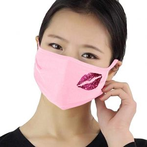 Mask with Glitter Lips