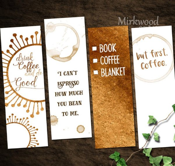 Coffee Lovers Bookmark (set of 4)
