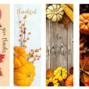 Thanksgiving Bookmarks (set of 4)