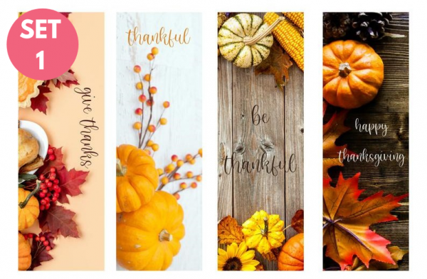 Thanksgiving Bookmarks (set of 4)