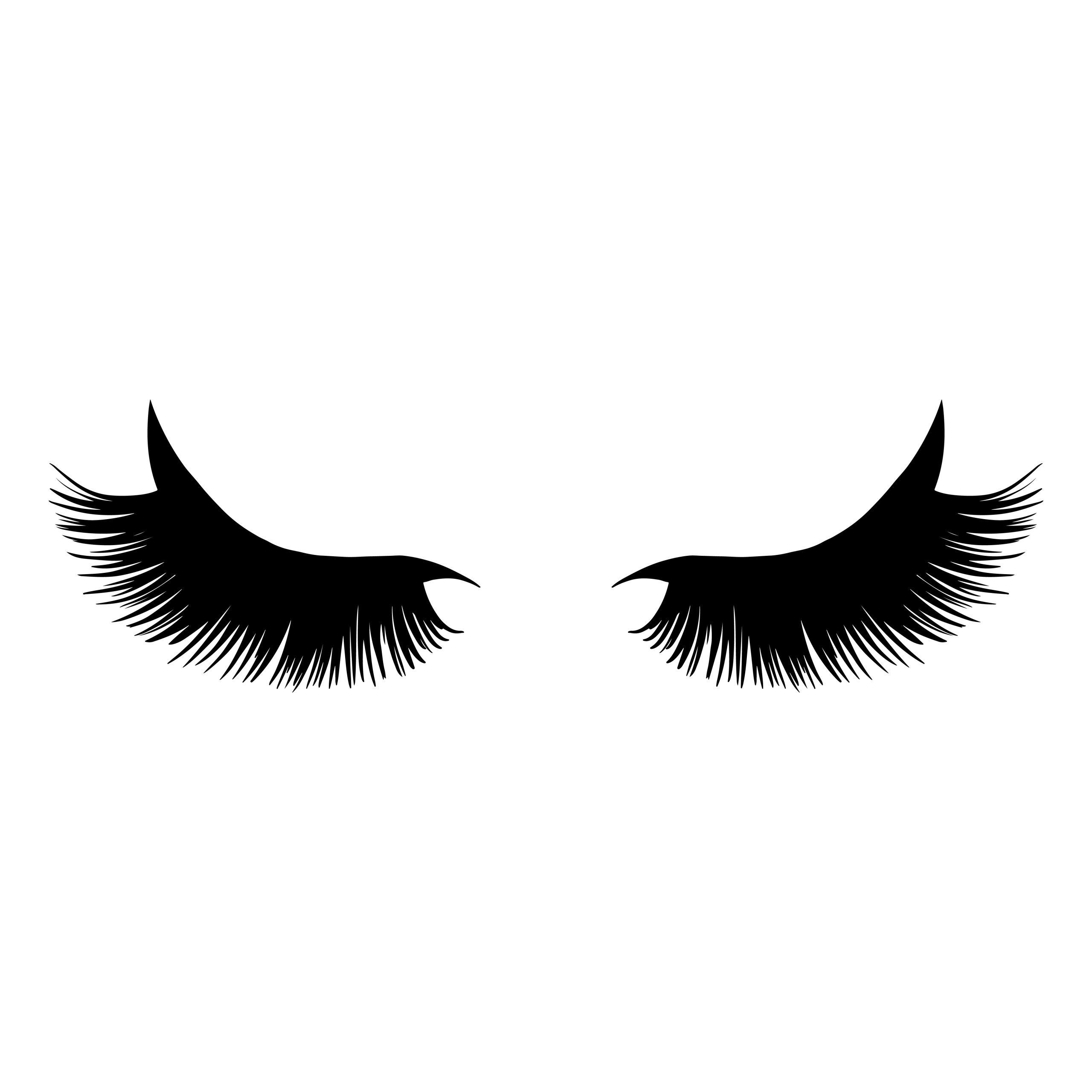 Black long lashes vector illustration. Beautiful Eyelashes isolated on a background.